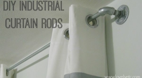 how to make your own inexpensive extralong curtain rod - Extra Long Curtain Rods