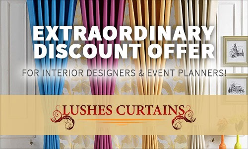 Extraordinary Discount Offer For Interior Designers Event Planners Lushes Curtains Blog