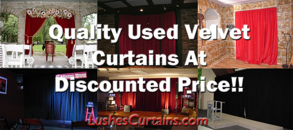 Used Velvet Curtains For Sale