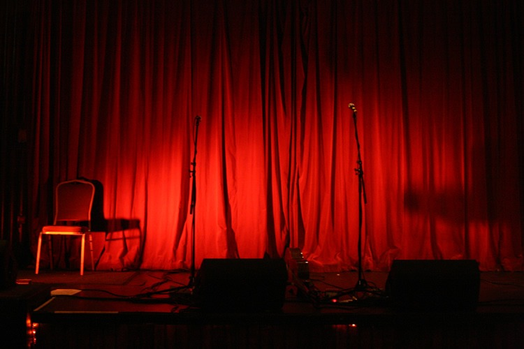 Comedy Club Red Velvet Stage Backdrop Curtain Drapery