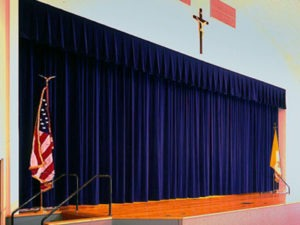 church-school-stage-blue-velvet-curtains-staging-drapery