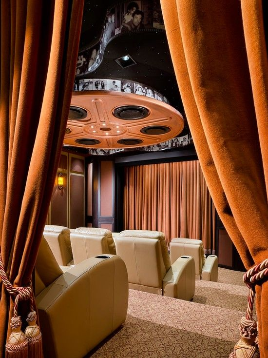 Use Supreme Quality Thick Heavy Curtains To Make Your Home Theater More Real