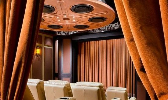Heavy velvet theatre curtains curtain menzilperde net for Motorized curtains home theater