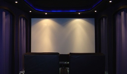 Light Control For Your Home Theater Room Purple