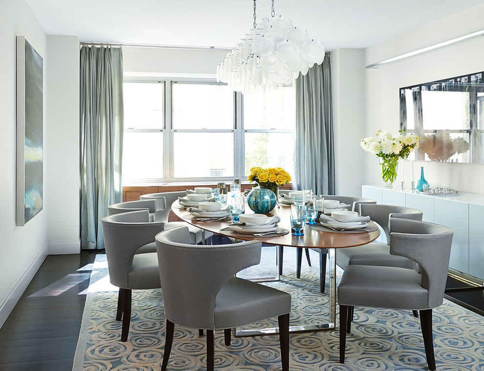 Decorating A Dining With Traditional Curtains And Drapes Room Contemporary Silver 2