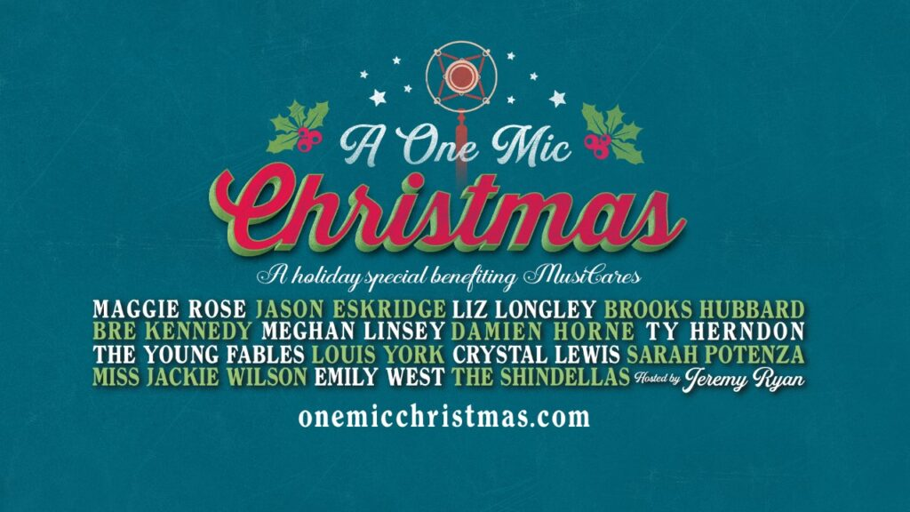 "Lushes Curtains Is Proud Sponsor of This Years ""A One Mic Christmas"""