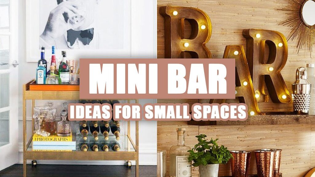 5 Artistic Ideas To Fit A Mini Bar In Small Spaces